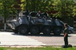 На улицах Днепропетровска появились БТРы