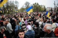 Сторонники и противники Тимошенко традиционно митингуют у здания суда