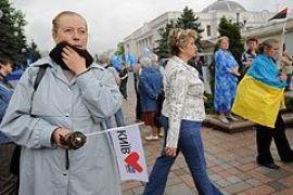 Сторонники Тимошенко митинговали возле парламента