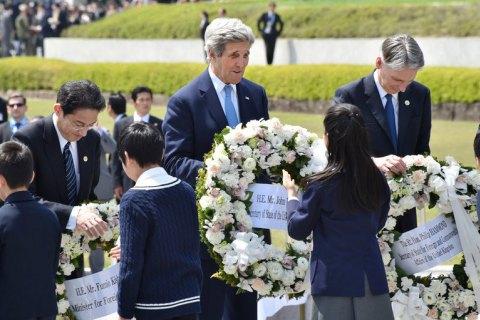 Керри посетил место атомной бомбардировки в Хиросиме