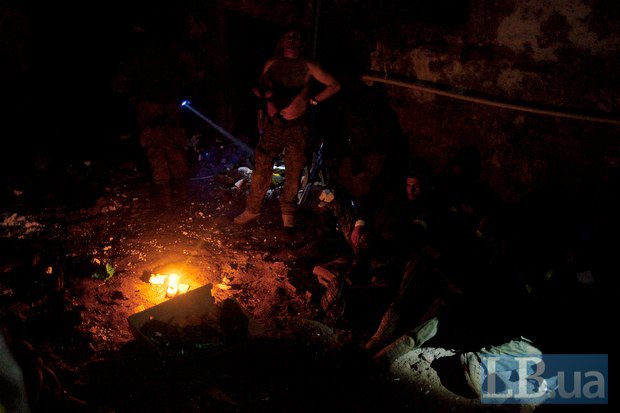 Бойцы АТО ночью