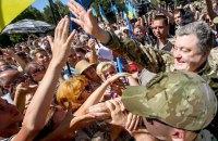 Порошенко приехал в Славянск в годовщину освобождения города