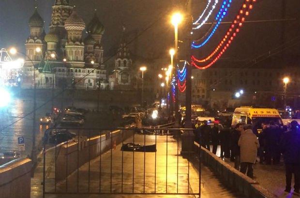 Тело Немцова на месте преступления
