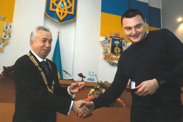 Алеша с мэром Донецка Лукьянченко
