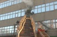 В Харькове произошел пожар на бывшем заводе