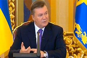 Янукович: правительство выбирает положения ТС для присоединения