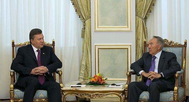 Виктор Янукович и Нурсултан Назарбаев