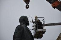 В Измаиле демонтируют самого большого Ленина в Одесской области