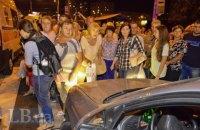 В Киеве противники строительства ТРЦ над станцией метро перекрыли дороги (обновлено)