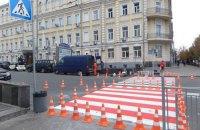 В Киеве сделали наземный пешеходный переход над подземным на улице Пирогова
