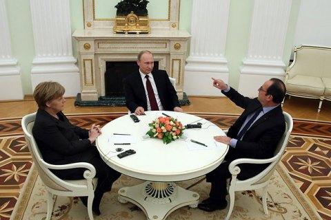 Меркель и Олланд упрекнули Путина за ухудшение ситуации на Донбассе