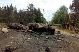 Штаб АТО: боевики понесли потери в Снежном и при отходе военных из аэропорта Луганска