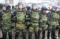"""Луцкие евромайдановцы """"завернули"""" десять машин внутренних войск"""