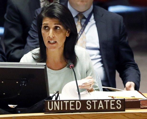 Хейли на заседании совбеза ООН
