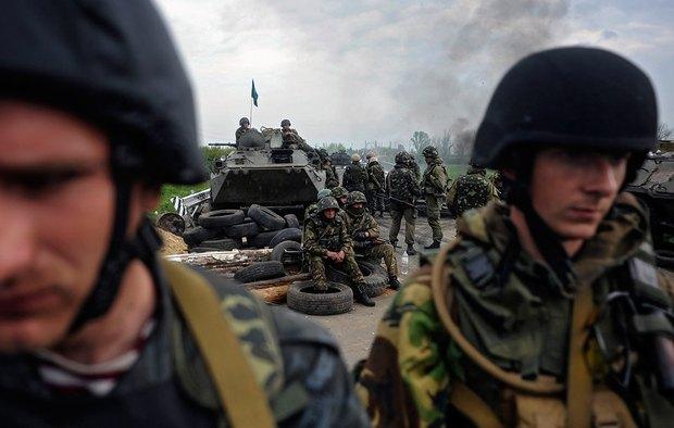Бойцы под Славянском
