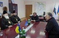 Патриарх Филарет посетил военных на линии фронта