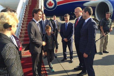 В Украину прилетел канадский премьер Джастин Трюдо