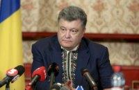 Порошенко дал телеинтервью по случаю года на должности