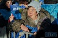 Участники митинга ПР в Киеве не собираются оставаться на ночь
