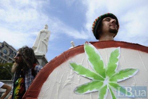 ВКиеве произошли стычки на«конопляном» марше