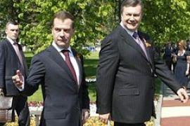 Лукашенко, Янукович и Медведев открыли с Москве стелу городам-Героям