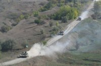 Штаб АТО показал, как отводили танки на Донбассе