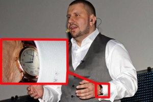 Глава Налоговой засветил часы за €12 тыс