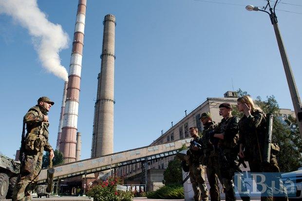 Бойцы <<Айдара>> охраняют Луганскую ТЭС