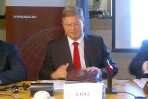 Фюле: ЗСТ базируется на политическом союзе