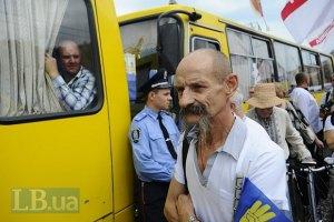 Милиция не выпускает автобусы на Киев из Чернигова