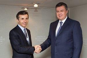 Янукович провел встречу с премьер-министром Грузии