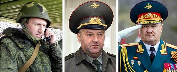 слева-направо: полковник Рузинский Андрей Юрьевич, генерал-майор Сергей Юдин, генерал-майор Валерий Асапов