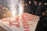 В честь Тимошенко под СИЗО устроили фейерверк