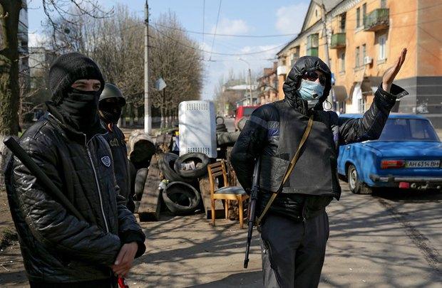 У блокпоста в Славянске