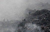 На мусорной свалке в Николаеве произошел пожар