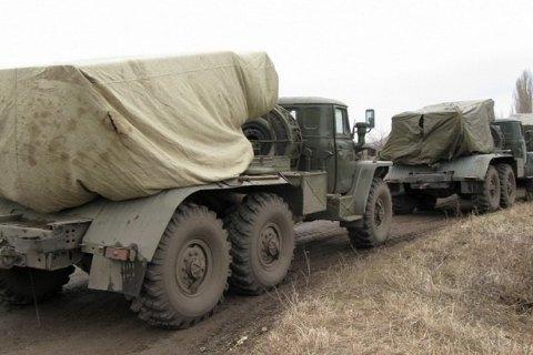 """Возле Макеевки боевики развернули """"Грады"""" и САУ"""