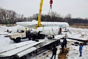 Сегодня ночью по Киеву провезут самолет, на котором летали президенты