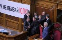 БЮТ заявил о подготовке нового дела против Тимошенко и заблокировал Раду