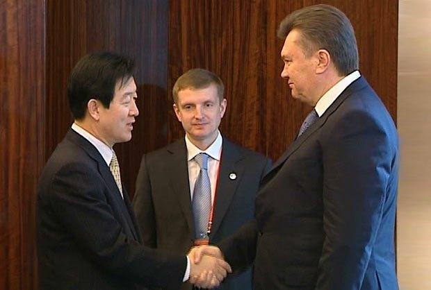 Чой Джи Санг и Виктор Янукович