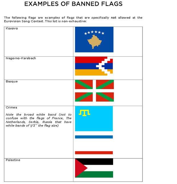 На Євробаченні заборонили недержавні прапори, в тому числі кримськотатарський