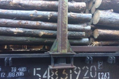 Награнице сПриднестровьем задержали 29 вагонов слесом-кругляком