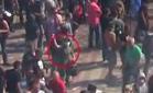 В сети появилось видео, на котором видно, кто бросает гранату под Раду