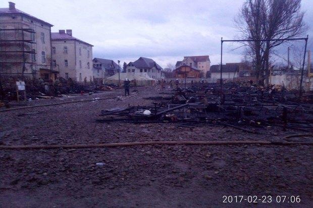 В Коломые сгорел палаточный городок 10-й горно-штурмовой бригады