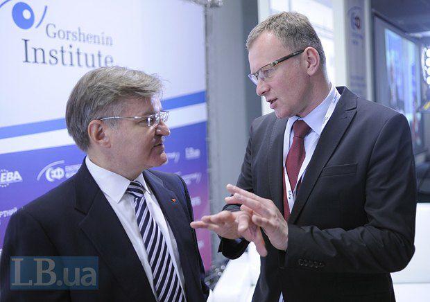 Григорий Немыря(слева) и Богуслав Хработа, главный редактор газеты «Rzeczpospolita»
