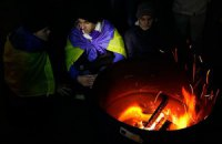 Ночной мороз не разогнал участников Евромайдана