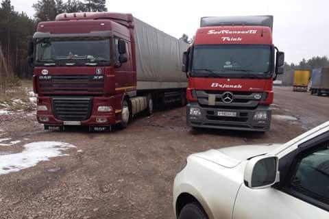 Украина запретила транзит российских грузовиков