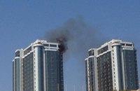 В Одессе горит недостроенная высотка