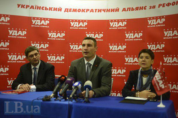 Виталий Кличко сообщает о снятых кандидатах в пользу Объединенной оппозиции