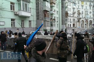 На улице Лютеранской возле АП сняли кордон милиции