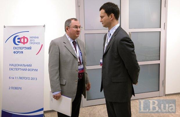 Дмитрий Гурин, советник посольства РФ в Украине (слева) и Алексей Лещенко, Вице-президент Института Горшенина